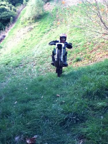Michael motorbiking