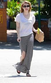 Emma Roberts Maxi Skirt Celebrity Style Women's Fashion