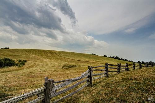 blue sky virginia nc hill north rail ridge va parkway carolina split hdr lump fenceline