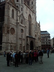 Touring the famous Saint Stephen's Cathedral built in the 12th century - Vienna, Austria