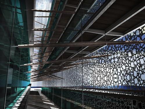 MuCEM entre deux passerelles extérieur © Agence Rudy Ricciotti