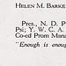 Helen M. Barke scrapbook, circa 1920s.