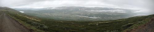 road panorama lake mountains rain norway fog clouds norge hjerkinn dovrekommune