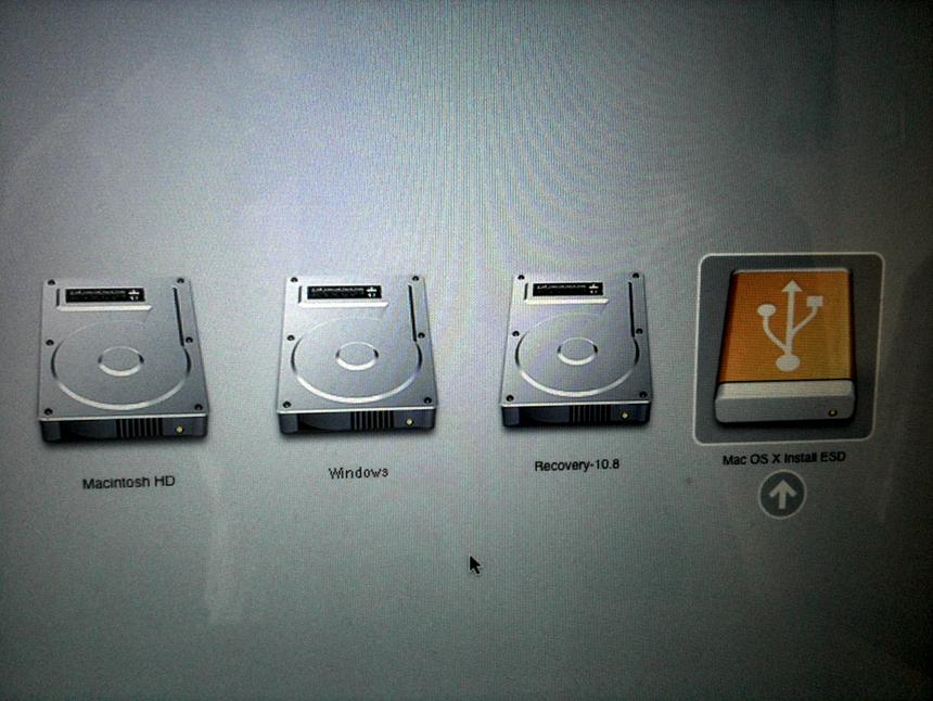 load Mac USB drive