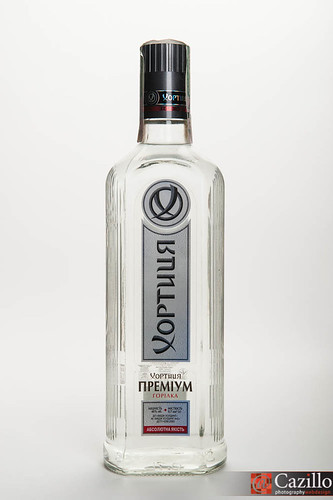 Vodka Bottle, Photographed During Live Product Photography Shoot