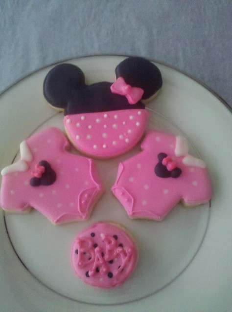 baby shower cookies minnie mouse theme flickr photo sharing