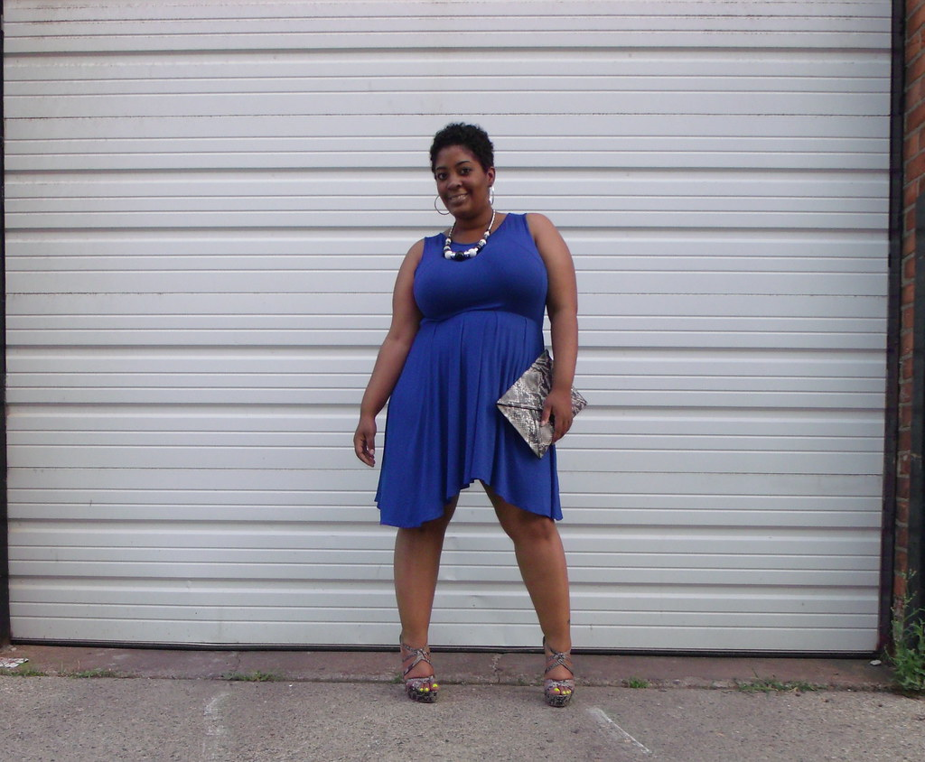 ASOS Curve Cobalt Blue Dress