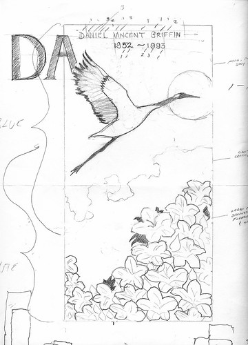 Aids quilt pencil sketch