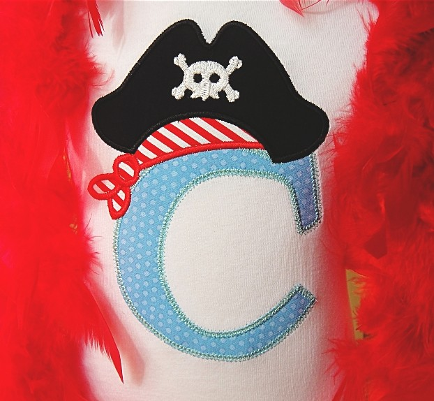 Pirate applique alphabet