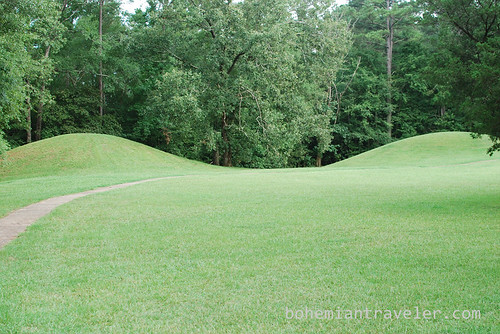 American Indian mounds along the Natchez Trace in Mississippi