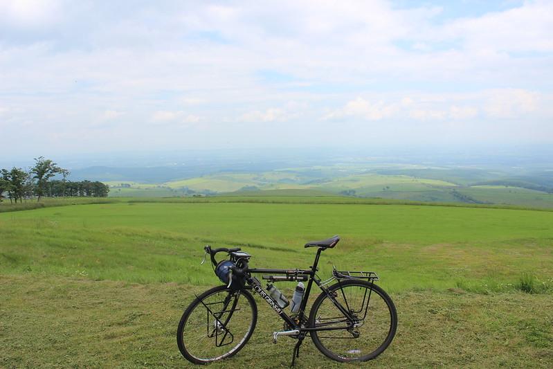 ナイタイ高原で自転車撮影