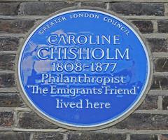 Photo of Caroline Chisholm blue plaque