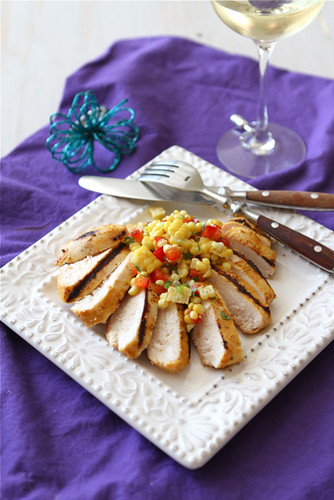 Grilled Curry & Kefir Marinated Chicken Recipe with Fresh Corn Salsa