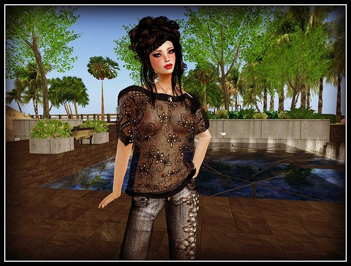 Baiastice ~ Kira Mesh Lace Sweater-black_001 by Cherokeeh Asteria