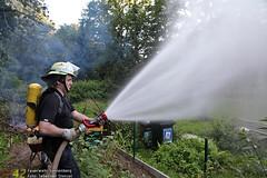 Übung Gartenhausbrand Kurpark 23.07.12