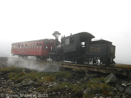 The steam train near the Gulfside Trail, White Mountain National Forest, New Hampshire