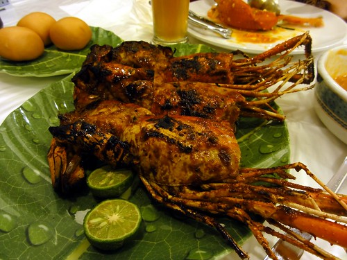 Char Grilled Giant Head Prawns