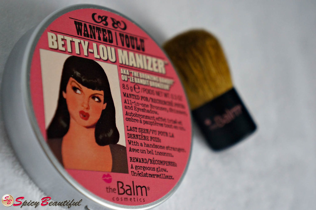 theBalm Betty-Lou Manizer with theBalm Kabuki Brush