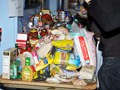 Occupy Wall Street's Hurricane Sandy relief drop off center at St. Jacobi's church in Sunset Park Brooklyn