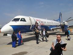 Aéroport de Voronezh, notre petit avion (SAAB 2000 Polet Airlines)