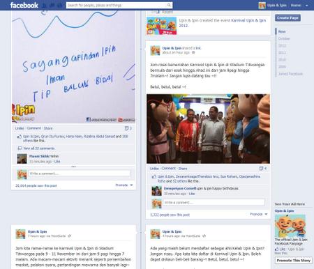 Facebook Upin & Ipin Cecah 6 Juta LIKES