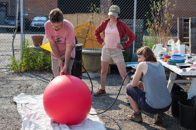 4_2012 7 July Eymund and Gena inflating balloon for automated Balloon Camera_pic by Dan Phiffer