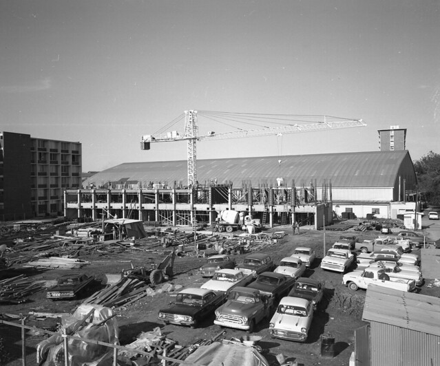 Loyola Fieldhouse During Buddig Hall Construction 1966
