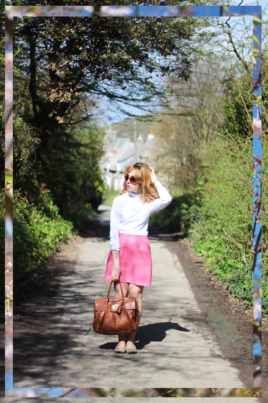 1whitepoloneck, retro, 60s, outfit, style, blonde, mod, pink, high street, mulberry, designer, spring, fashion, blogger