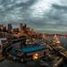 Rainy sky over Seattle by Ania César Winiarek