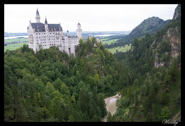 Castillo Schloss Neuschwanstein desde Puente de María