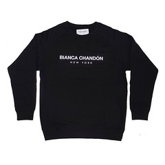 Black Bianca Chandon crewneck sweater available online only