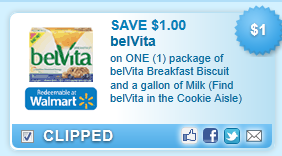 Belvita Breakfast Biscuit And A Gallon Of Milk (find Belvita In The Cookie Aisle)  Coupon