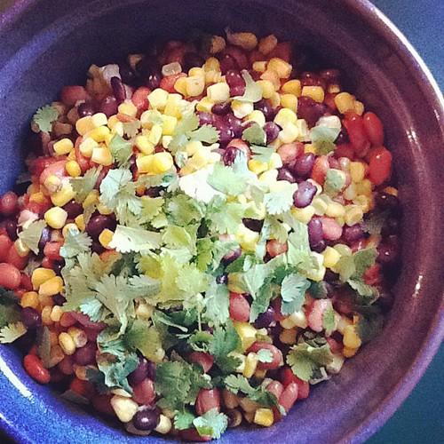 Fresh bean salsa