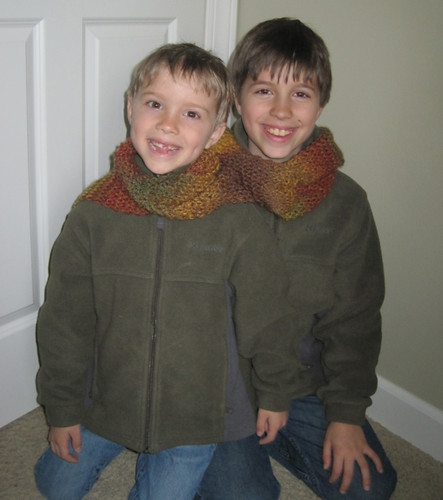 Matching Scarves for the Brothers