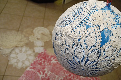 Doily lamp - construction