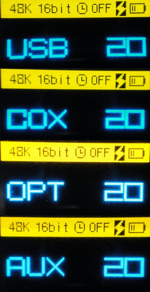 Fiio E17 螢幕顯示