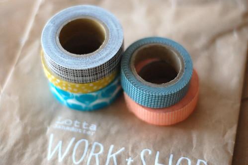 my moleskine + washi tape
