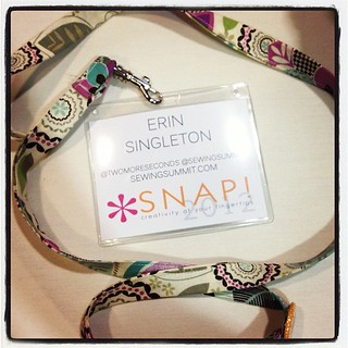 I'm the one that doesn't have a plain white lanyard! ;] @snapconf #snapconf