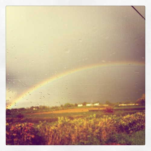 drivin thru a rainbow..