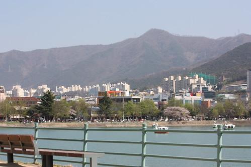 Daegu behind Suseong Lake