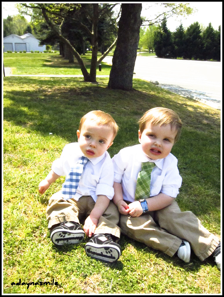 Boys with their ties