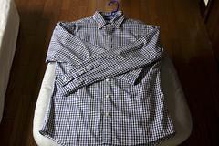 blouse(0.0), pattern(1.0), textile(1.0), clothing(1.0), collar(1.0), dress shirt(1.0), sleeve(1.0), outerwear(1.0), design(1.0), shirt(1.0), plaid(1.0),
