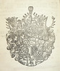 Woodcut coat of arms of Heinrich Julius, Duke of Brunswick-Wolfenbüttel (1564-1613). Used by Johann Stange of Wolfenbüttel by Penn Provenance Project