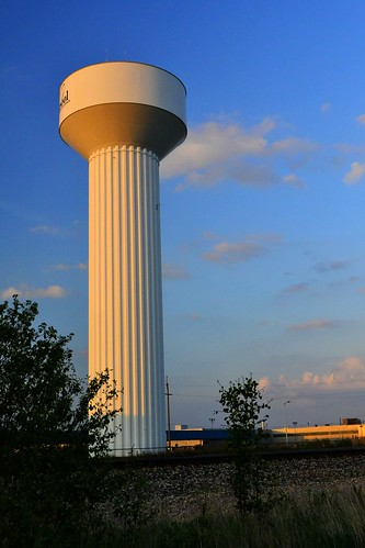 blue sunset ohio sky plant tower water clyde factory dusk whirlpool oh division appliance