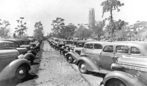 Parking lot at Bok Tower: Lake Wales, Florida