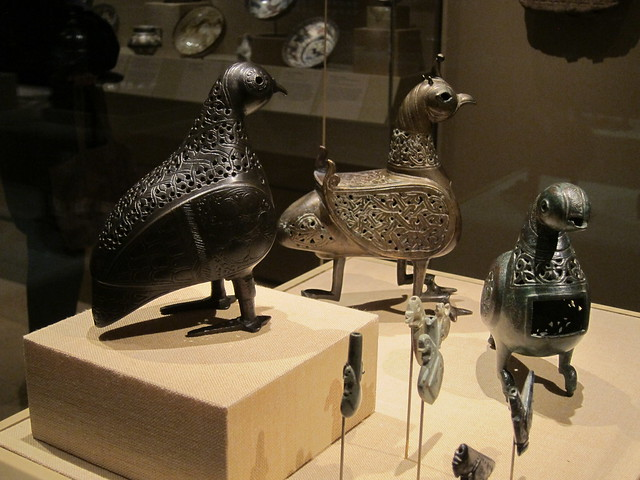 Metal birds (Iranian), Islamic Arts galleries, Metropolitan Museum of Art