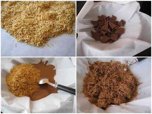 çikolatalı kadayıf yapılışı