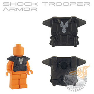 Shock Trooper Armor - Carbon (white chest print)