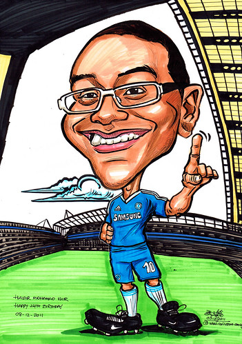 Chelsea Football fan caricature