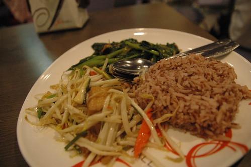 玄米とおかず2種